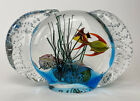 Vintage Murano Glass Large Two Sided Aquarium Fish  Snails