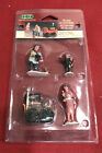 Lemax Village Figurine Set ~ ROASTED CHESTNUTS (4pc Set) ~ New in Packaging