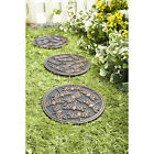 Dragonfly Garden Stepping Stone Set of 3 Rubber Stones