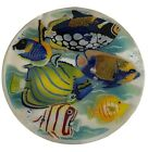 SIGNED PEGGY KARR 13 3 4 TROPICAL FISH FUSED GLASS PLATTER 1997 2002