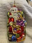 Birgits Collection SANTAS PLACE OF HONOR Inge Glass Ornament Signed LE