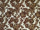 Brown Rococo Floral Drapery Panels or Fabric heavy tapestry 49x84 9 1 3 yards
