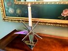 Vintage Moravian Star Stained Glass Mirrored Candle Holder Hand Made 572