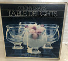 VINTAGE COLONY CRAFTS TABLE DELIGHTS CLEAR GLASS ICERS  LINERS SET OF 4
