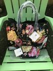 NEW ANNA GRIFFIN Large TOTE + Cosmetic Bag Rose Ribbon Black 82 Value