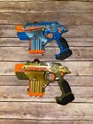 NERF Phoenix LTX Lazer Tag Game Gold  Blue 2 Pack Indoor Outdoor Multiplayer