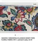 Waverly Fabric 100 Cotton Upholstery Drapery Material Almost 6 Yards Piece 1
