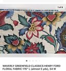 Waverly Fabric 100 Cotton Upholstery Drapery Material 6 yards Piece 5