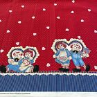 RARE Daisy Kingdom Raggedy Ann Hearts and Flowers Border for Springs 2+yards