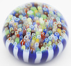 Remarkable PARABELLE Stave Basket MILLEFIORI CANES Art Glass PAPERWEIGHT
