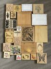 Themed Paper Craft Bundle Of Approx 80 Printing Blocks Rubber Stamps + Letters
