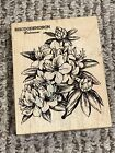 PSX K 2200 RHODODENDRON BOTANICAL FLOWERS WOOD RUBBER STAMP EUC A25830