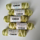 Caron Simply Soft Ombre Yarn Light Green Cream Variegated Lot 5 Skiens NEW