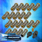 For Chevy M12X15MM 20 Piece Formula Drift Style Steel Tuner Lug Nuts Smoke Gold