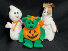 Lot of 3 HALLOWEEN TY Beanie Babies: Spooky, Ghoulianne, Tricky/Excellent Cond