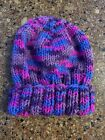New Handmade Knitted Hat Beanie Multicolor Orchard Mist