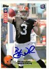 Brandon Weeden Cleveland Browns Autograph Signed 2012 Topps Kickoff Rookie Card