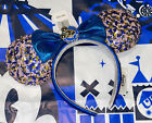 Disney Parks Annual Passholder Blue Sequined Minnie Mouse Bow Ears New Release