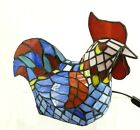 Tiffany Style Stained Glass Rooster Chicken Accent Lamp Light