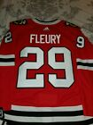 MARC ANDRE FLEURY CHICAGO BLACKHAWKS RED AUTHENTIC ADIDAS JERSEY SIZE 54