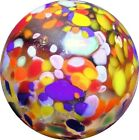 Handmade Art Glass Marble 75 CRYSTAL GUINEA Artist Signed WAG Spotted Beauty