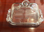Crystal Dome Fromage Glass Dish Lidded Domed Covered Butter  Square Handled