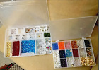 Huge Lot of Beads for Jewelry Making Various Sorted VTG Crystal and More