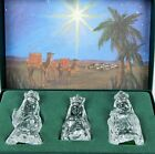 Marquis Waterford Crystal THREE WISE MEN Kings Nativity Collection Germany