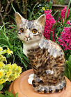 Winstanley Pottery Size 4 Quaint Cat Cathedral Glass Eyes Signed Purrfect