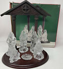 Home For The Holidays 6 piece Glass Nativity Set Clear Holiday Decor Season Home