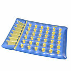 78 Inflatable Blue and Yellow Water Sports 36 Pocket Double Pool Mattress