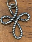 james Avery Retired wire rope cross Charm Pendant cut loop