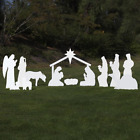 Outdoor Nativity Store Complete Outdoor Nativity Set Life Size White