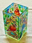 Bird Nests Painted Glass Vase Flower Candle