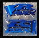 SUZUKI GSX-R GSXR 600 750 1000 Blue Heel Guards Plates NEW! CUT OUT