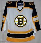 Boston Bruins AWAY White Authentic Rbk 6100 Jersey 46