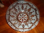 1900s Antique Early American Large Glass Bowl Very Ornate