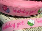 ADORABLE BIRTHDAY GIRL CUPCAKES Pink 7 8 sold by the yard
