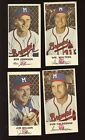 1954 Johnston Cookies Milwaukee Braves Baseball Card Lot 4 Different EX EX+