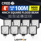 8x 27W LED WORK LIGHT worklight LED OFFROAD LAMP UTE BOAT ATV BAR 12V 24V 4WD