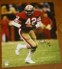 Ronnie Lott Signed 49ers Football 16x20 Photo PSA DNA COA HOF Picture Autograph