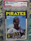 1986 Topps Traded #11T Barry Bonds Rookie Card Graded 8 NM-MT PSA