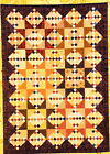 Four-Patch with Stars - simple pieced quilt PATTERN - The Rabbit Factory