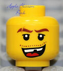 NEW Lego Pirate MINIFIG HEAD Male w/Missing Tooth Smile -City/Agents/Police/Dino