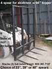 skid steer hay bale loader w 4 spears 48 inches long