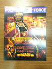Original Williams Police Force Pinball Advertising Flyer