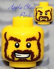 NEW Lego Pirate MINIFIG HEAD Kingdoms Castle Knight King w/Brown Beard Moustache