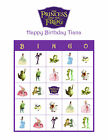 The Princess and the Frog Personalized Birthday Party Game Bingo Cards