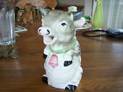 Vintage Art Pottery Cow Pitcher