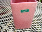 Haeger Pink Planter Rectangle Shape With Label Original Haeger Pink Planter